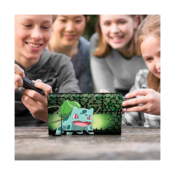 "Controller Gear Officially Licensed Nintendo Pokémon Switch Skin & Screen Protector ""Bulbasaur Elemental Set 1"" 10"