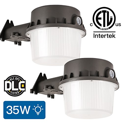 Amico Dusk-to-dawn LED Outdoor Barn Lights (Photocell Included), 35W(260W Equiv.) 3700lum Daylight, 5000K Yard Light Waterproof, DLC & ETL-listed, Led Floodlight for Steet Area Lighting.(2pack)