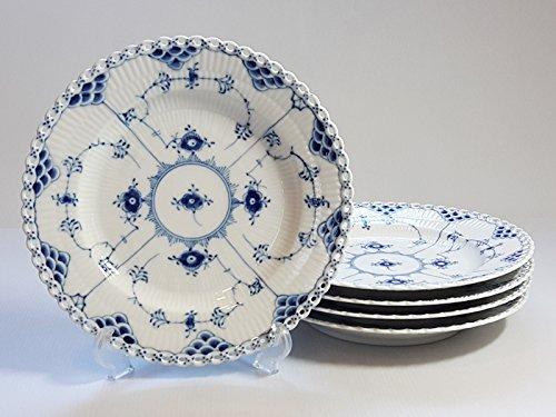 ロイヤルコペンハーゲン プレート■ブルーフルーテッド フルレース ディナープレート 皿 5枚セット 1級品 2 B07431159X