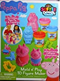 play dough costume - Peppa Pig Cra-z-Art Softee Dough, Mold n Play 3D Figure Maker