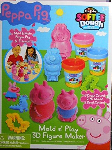 George Rainbow Costume (Peppa Pig Cra-z-Art Softee Dough, Mold n Play 3D Figure Maker)