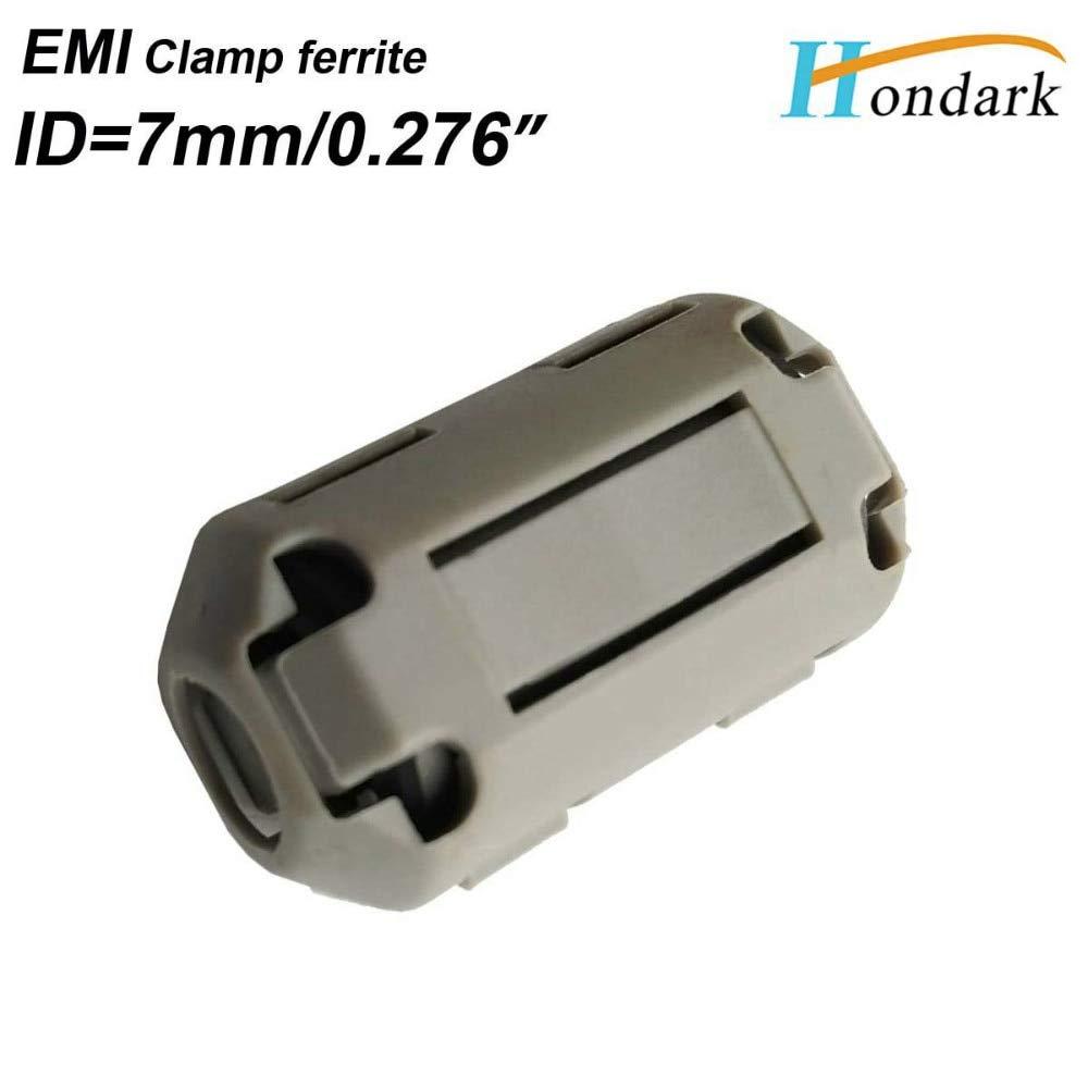 Maslin Inner 7mm 0.28''Electronics EMI Filter ferrite core Noise Cancel ferrite Ring RF Choke ferrite Bead 1730-0730 Grey,30pcs/lot