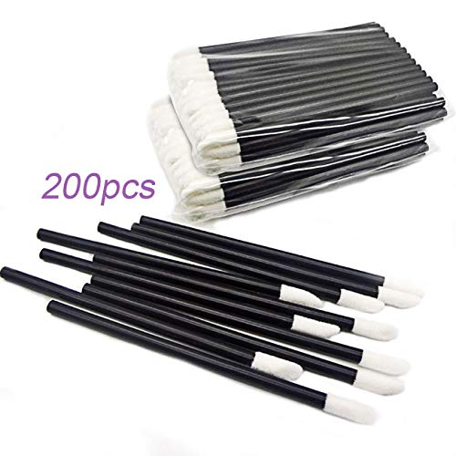 GoWorth 200Pcs/Set Disposable Lip Brushes Make Up Brush Lipstick Lip Gloss Wands Applicator Tool Makeup Beauty Tool ()