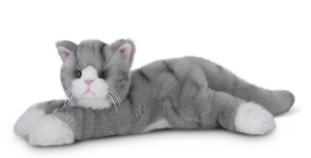 """Kitten 15/"""" Bearington Collection . Bearington Socks Plush Stuffed Animal Grey Striped Tabby Cat"""