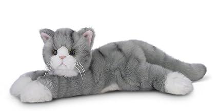 Amazon Com Bearington Socks Plush Stuffed Animal Grey Striped Tabby