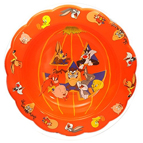Vintage 1996 Warner Bros Looney Tunes Halloween Trick Or Treat Plastic Candy Bowl 10