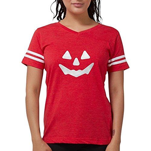 CafePress - Pumpkin Face T-Shirt - Womens Football
