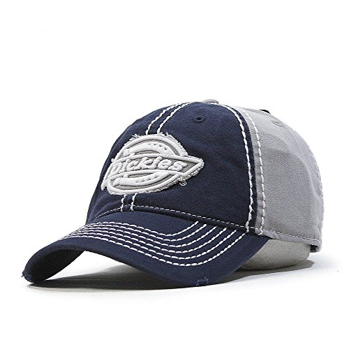 dickies-heavy-stitching-color-block-distressed-adjustable-baseball-cap-navy-gray