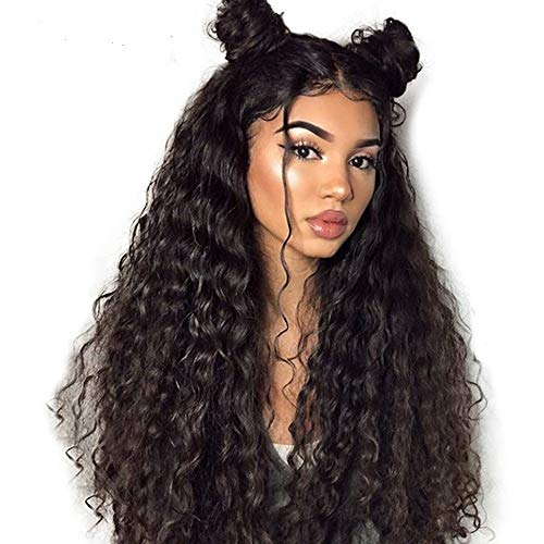 tal Loose Curly Wave Human Hair Wigs, Premier Brazilian Virgin Wigs Pre Plucked with Baby Hair For Black Women, Glueless 180% Density Lace Front Human Hair Wigs 22Inch ()