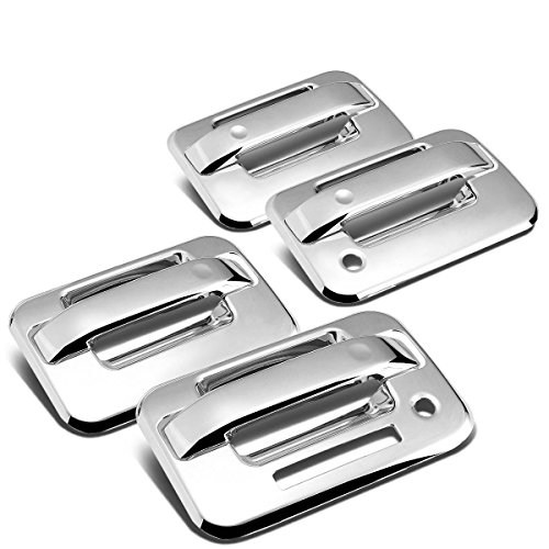 For Ford F-150 11th Gen 4-Door Exterior Body Kit (Chrome Door Handle Cover w/Keyhole & Pad)