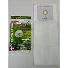 Vacuum Cleaner Bags Johnny Vac 440H HEPA central vacuum bags (3-pk) - Replaces Nutone 391 & Hoover