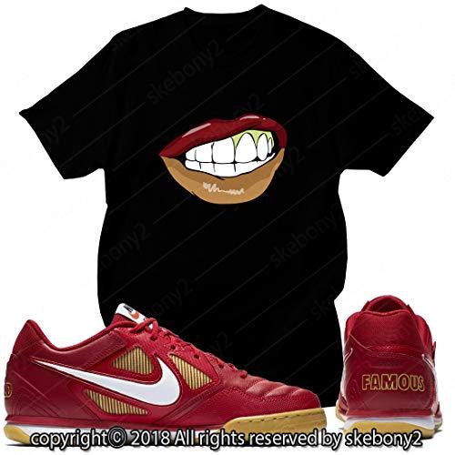 Custom T Shirt Matching Style of SB GATO Supreme RED SG 1-2-26-BLACK-XL (Supreme Sb)