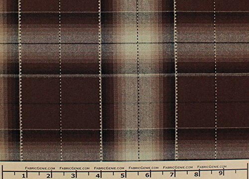 Old English Plaid Plaid Suiting Fabric, Stretch Suiting Fabric-BROWN (Brown Suiting)