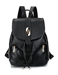 Tibes Fashion Small Leather Waterproof Backpack for Girls/Women