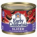 Early California Sliced California Ripe Olives 2.25 oz. (Pack of 6) by Early California