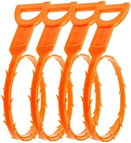 Paquete de 4 herramientas de limpieza para eliminar el vello obstruido color amarillo