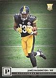 #9: 2018 Panini #324 James Washington Pittsburgh Steelers Rookie Football Card