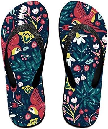 ビーチシューズ レトロ 鳥柄 ビーチサンダル 島ぞうり 夏 サンダル ベランダ 痛くない 滑り止め カジュアル シンプル おしゃれ 柔らかい 軽量 人気 室内履き アウトドア 海 プール リゾート ユニセックス