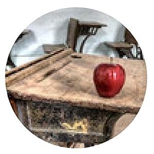 alfombrilla de ratón Manzana roja abandonada casa de la escuela - ronda - 20cm