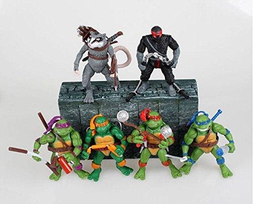6pcs/Set NECA Teenage Mutant Ninja TURTLES Action 4.7