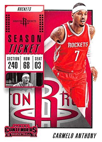 2018-19 Panini Contenders Season Ticket #48 Carmelo Anthony Houston Rockets Basketball Card
