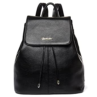 ae9b4559c7b7 BOSTANTEN Women Leather Backpack Purses College Casual Daypack Handbags