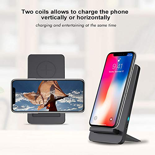 Wireless Charger Stand - QI Wireless Charger Fast Charging Removable Bracket With Wireless Charging, Support Wireless Charging for iPhone and Samsung by TLT Retail