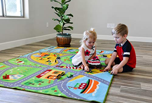 SugarPoP Kids Toy Car Play Rug X Large (6