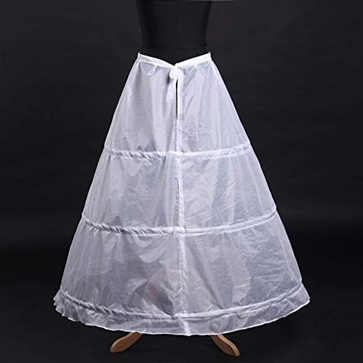Mikiya - Falda de Boda para Mujer, con 3 Aros: Amazon.es: Hogar