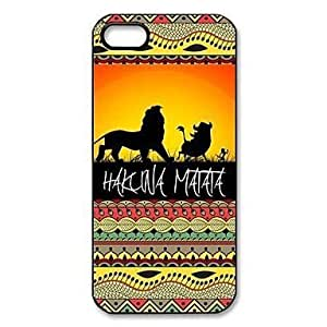 Fun Case (TM) Hakuna Matata on Sunset Lion King Pattern Plastic Hard Case for iPhone 5 5s
