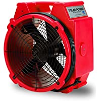 B-Air PB-25 1/4 HP Polar Axial Fan High Velocity Air Mover for Water Damage Restoration, Red