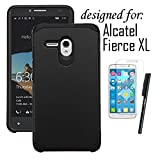 Alcatel One Touch Fierce XL Case, LUXCA [Shock-proof] Hybrid Dual Layer [Slim Fit] Defender Protective Case Cover for Alcatel One Touch Fierce XL (Black)
