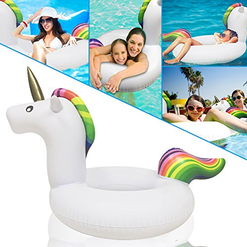 soled Pool Floats, Inflatable Floats, Giant Unicorn Party Inflatable Pool Float Raft, Unicorn Pool Floats Inflatable Raft, Summer Beach Premium Swimming Floats Party Lounge Toys for Kids and Adults (Best Facebook Status To Get The Most Likes)