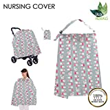 G.F. Breastfeeding Cover Ups, Nursing Cover for Breastfeeding, Lightweight, Nursing Cape, Breathable Burp Cloth, Best Apron Cover for Breastfeeding, Protection for Baby, Baby Shower Gift