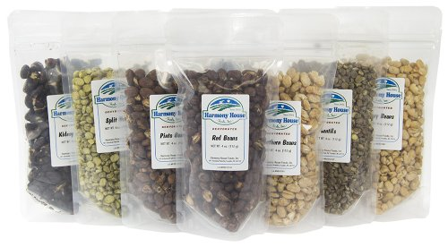Harmony House Foods Bean   Legume Sampler  8 Zip Pouches