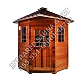 BRAND NEW FULL SPECTRUM 4 PERSON CORNER SIERRA CANADIAN CEDAR INFRARED SAUNA - 3 YEAR WARRANTY