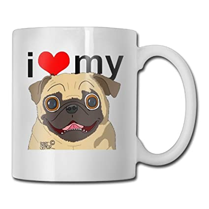 cudsd i love my pug coffee mugs tea mug office staff best birthday gift for mom