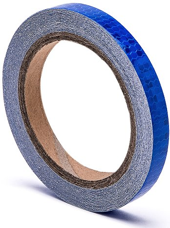 reflective tape blue 0.5