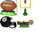aquarium football - NFL Pittsburgh Steelers Aquarium Ornaments Set of Four