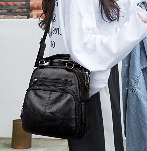 Bolsa bolsa negro de para hombro Lmopop hombro una sola con al llevar dZUa8B