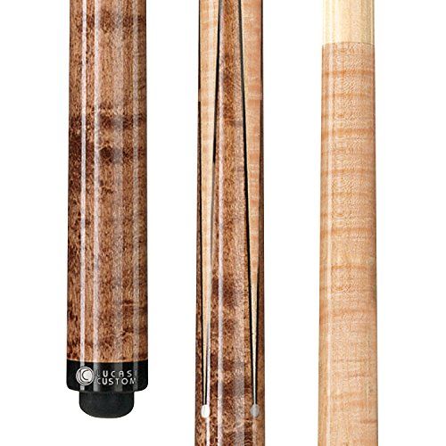 Lucasi Custom Birds-Eye Maple Sneaky Pete Pool Cue with Upgraded Shaft, 20-Ounce