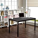 "Need Computer Desk 55"" Large Size Office Desk Writing Desk Workstation Easy to Install, Black Brown AC3CB-140-CA"