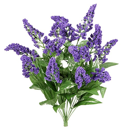 Heather Herb - Admired By Nature 14 Stems Artificial Heather Fillers Bush & Greenery for Home, Wedding, Restaurant, & Office Decoration Arrangement, Purple