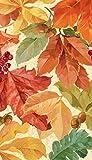 Thanksgiving Fall Elegant Leaves Guest Napkins Celebration Party Harvest 16 Pk by Amscan