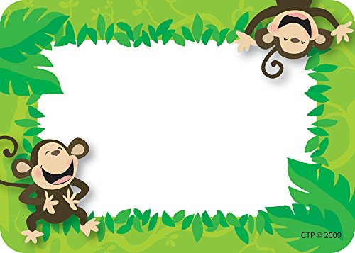 Creative Teaching Press Monkey Name Tags, 3-1/2 x 2-1/2 Inches, Pack of 36