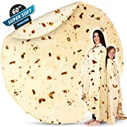 Zulay (60 Inch) Giant Burrito Blanket Double Sided - Novelty Big Burrito Blanket for Adult and Kids - Premium