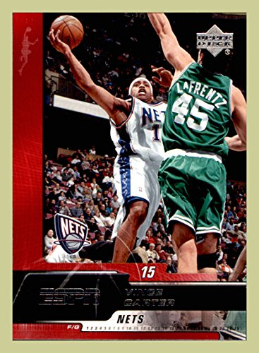 2005-06 Upper Deck ESPN #52 Vince Carter NEW JERSEY NETS NORTH CAROLINA TAR HEELS guarded by Raef LaFrentz (ast) (Vince Carter Nets Jersey)