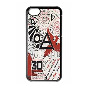 30 Seconds To Mars Logo caso 5c funda iPhone C9P89O8NC funda L34BUY negro