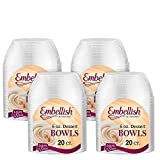Embellish Hard Plastic 6 Ounce Clear Bowls 4 by Embellish