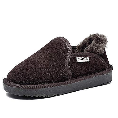Shukun Damen Schneestiefel Winter pu Schnee Stiefel Plus Baumwolle brötchen brötchen brötchen Schuhe Brot Schuhe Rutschfeste warme Flache runde Kopf Frauen Stiefelies  ae9313